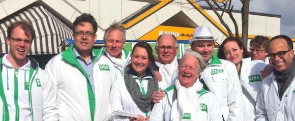 Op campagne met D66 NOP