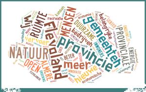 Wordcloud Verkiezingsprogramma D66 Flevoland